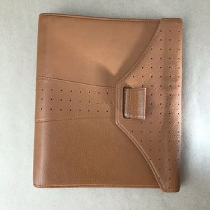 Brown Leather Cross 6 Ring Day Planner